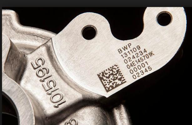 Пример маркировки металлических деталей
